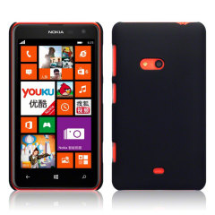 Rubberised Nokia Lumia 625 Hard Shell Case - Black