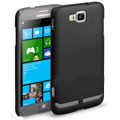 Samsung ATIV S Rubberized Back Hard Case - Black