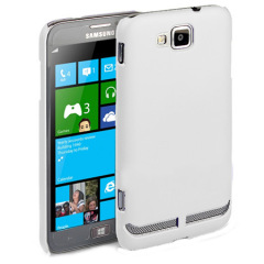Samsung ATIV S Rubberized Back Hard Case - White