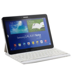 Samsung Galaxy Note 10.1 2014 Bluetooth Keyboard Case - White