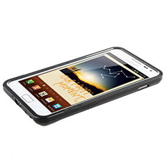 Samsung Galaxy Note Metallic Bumper - Black