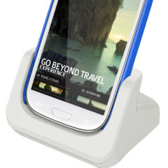 Samsung Galaxy S3 Case Compatible Dual Charging Dock - White