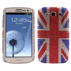 Samsung Galaxy S3 Diamante Back Cover - Union Jack