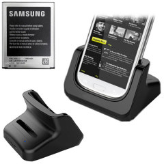 Samsung Galaxy S3 Dual Charging Dock with Official Replacement Battery