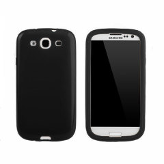 Samsung Galaxy S3 Plastic Case with Screen Cover - Black