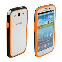 Samsung Galaxy S3 Rubber Bumper - Orange / Black
