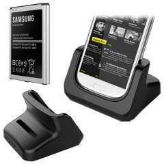 Samsung Galaxy S4 Dual Charging Dock with Official Replacement Battery
