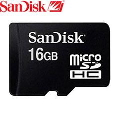 SanDisk MicroSDHC Card - 16GB