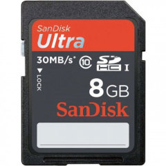SanDisk Ultra 30MB/s 8GB SDHC Card