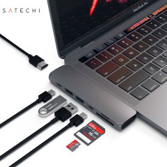Satechi USB-C Pro Hub Multiport 4K HDMI & USB Adapter - Space Grey