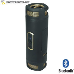 Scosche boomBOTTLE+ Waterproof Bluetooth Speaker - Black / Gold