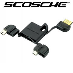 Scosche flipSYNC Keychain Charge and Sync cable - Micro and Mini USB
