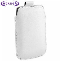 SD Leather Style Pouch Case for Samsung Galaxy S3 - White