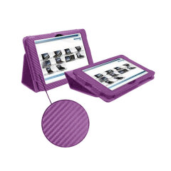 SD Stand and Type Case for Kindle Fire HD - Purple Carbon