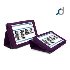 SD Stand and Type Case for Kindle Fire HD - Purple