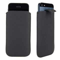 SD Suede Style Pouch Case for iPhone 5 - Black