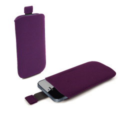 SD Suede Style Pouch Case for iPhone 5 - Purple