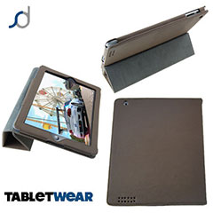SD Tabletwear Case for iPad 3 / iPad 2 with Smart Cover Style Front - Brown