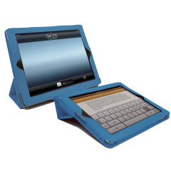 SD TabletWear Case- iPad 4 / 3 / 2  Smart Cover Style Front - Blue