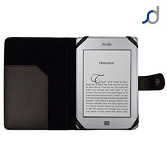 SD TabletWear Leather Style Book Case for Amazon Kindle Touch - Black