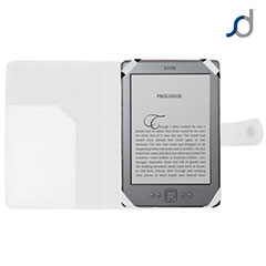 SD TabletWear Leather Style Book Case for Amazon Kindle - White