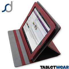 SD TabletWear LuxFolio iPad 3 / iPad 2 Case - Red