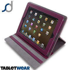 SD TabletWear LuxFolio  iPad 4 / 3 / 2 Case - Purple