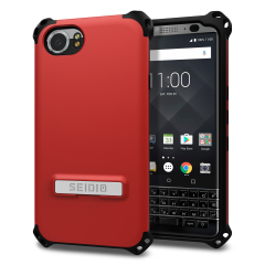 Seidio Dilex BlackBerry KEYone Tough Kickstand Case - Dark Red / Grey