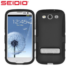 Seidio Dilex Case for Samsung Galaxy S3 with Kickstand - Black