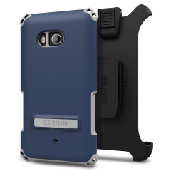 Seidio Dilex Combo HTC U11 Holster Case w/ Kickstand - Blue / Grey