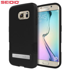 Seidio DILEX Pro Samsung Galaxy S6 Edge Case with Kickstand - Black