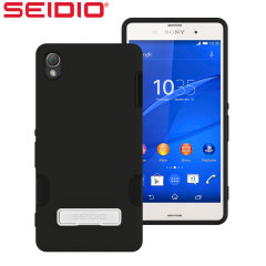 Seidio DILEX Pro Sony Xperia Z3 Case with Kickstand - Black