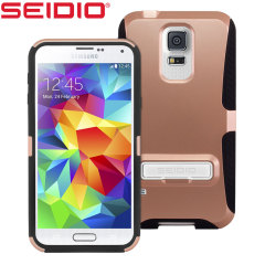 Seidio DILEX Samsung Galaxy S5 Case with Kickstand - Rose Gold