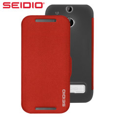 Seidio LEDGER HTC One M8 Case with Metal Kickstand - Red