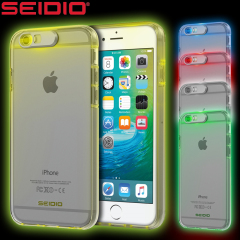 Seidio Luma Multicolour iPhone 6S / 6 Light Up Case - Clear
