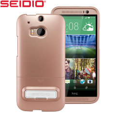 Seidio SURFACE HTC One M8 Case with Metal Kickstand - Gold