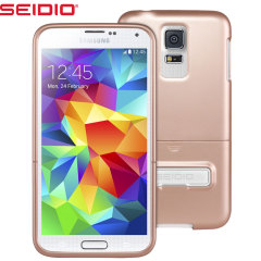 Seidio SURFACE Samsung Galaxy S5 Case with Kickstand - Rose Gold