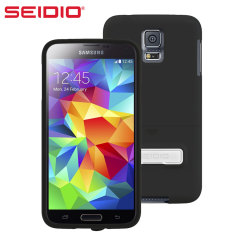 Seidio SURFACE Samsung Galaxy S5 Case with Metal Kickstand - Black