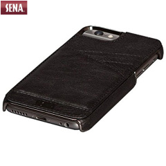 Sena Lugano Genuine Leather iPhone 6 Wallet Case - Black
