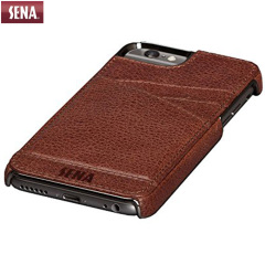 Sena Lugano Genuine Leather iPhone 6 Wallet Case - Cognac
