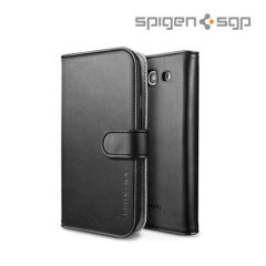 SGP Galaxy S3 Valentinus Leather Wallet Case - Black