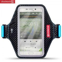 Shocksock Premium Samsung Galaxy S6 Edge Plus Armband - Black