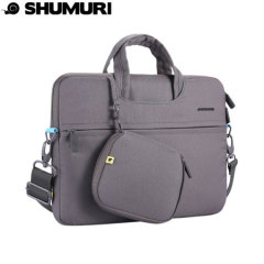 Shumuri Slim Brief 15 Inch Macbook Protective Carry Bag - Grey