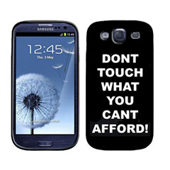 Silicone Case for Samsung Galaxy S3 - Don't Touch
