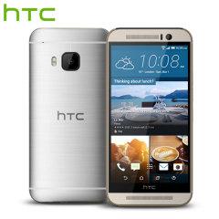 SIM Free HTC One M9 - Gold on Silver 32GB