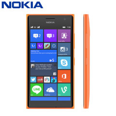 SIM Free Nokia Lumia 730 Dual SIM 8GB - Orange