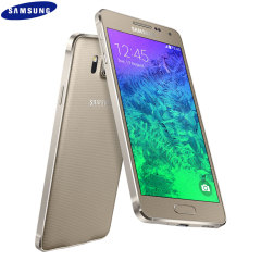 SIM Free Samsung Galaxy Alpha 32GB - Frosted Gold