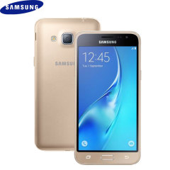 SIM Free Samsung Galaxy J3 2016 Unlocked - 8GB - Gold