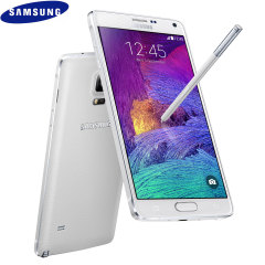 SIM Free Samsung Galaxy Note 4 Unlocked - Frost White