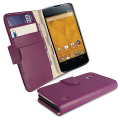Simple Wallet Case for Google Nexus 4 - Purple